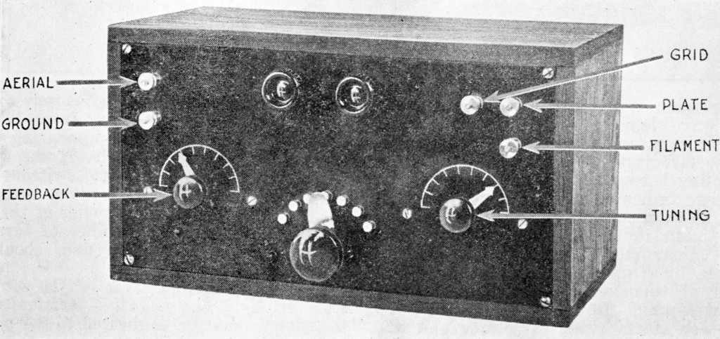 CW receiver, QST June 1921, p. 5