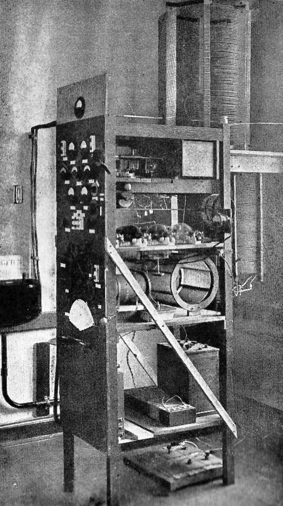 QST, October 1924, p. 10. WWV transmitter.