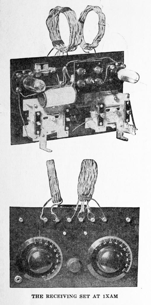 QST March 1925 p. 9, 1XAM Tx, RX