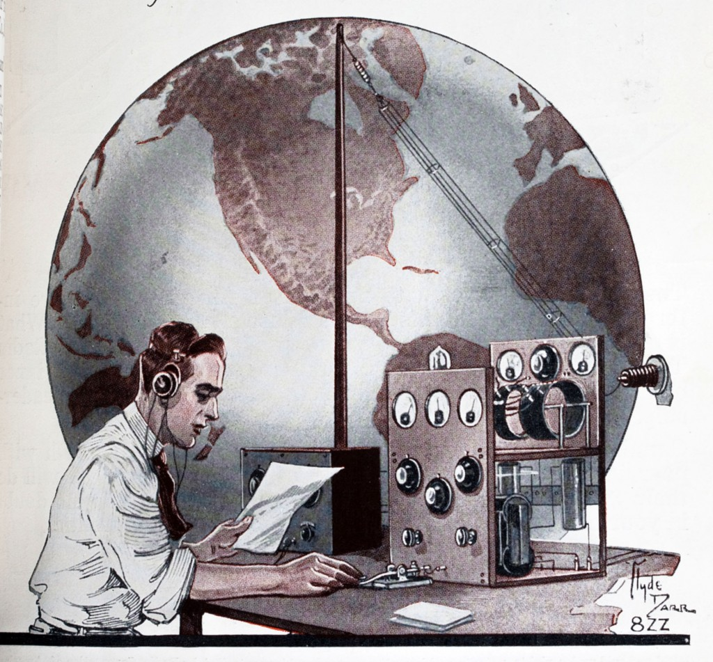 November 1926 QST cover illustration